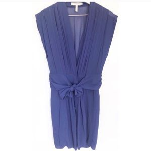 Bcbg Max Azria runway silk pleated tie waist dress